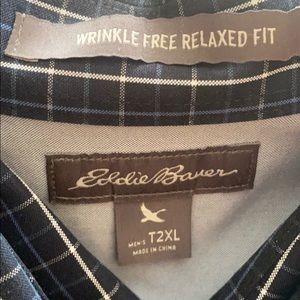 Eddie Bauer Shirts - Eddie Bauer men's tall twoXL wrinkle free relaxed